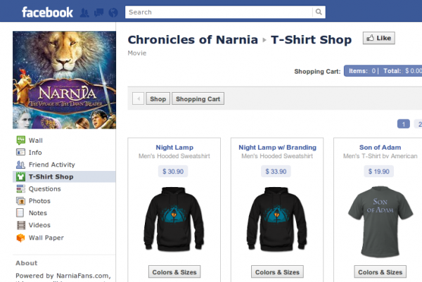 Narnia Chronicles Facebook Page