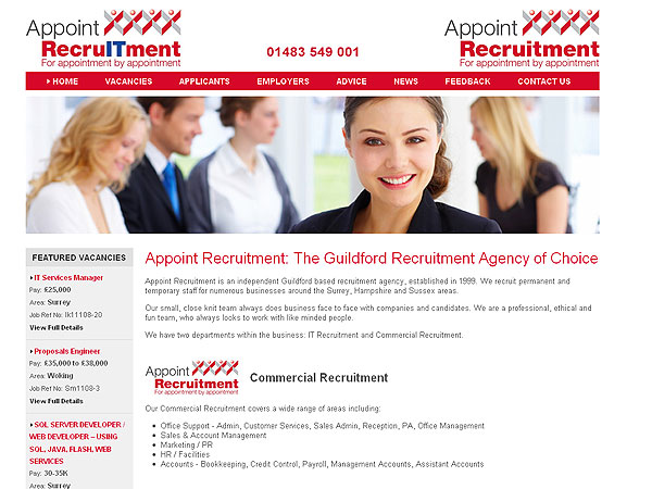 Job Seaerch for Recruitment Agency, UK